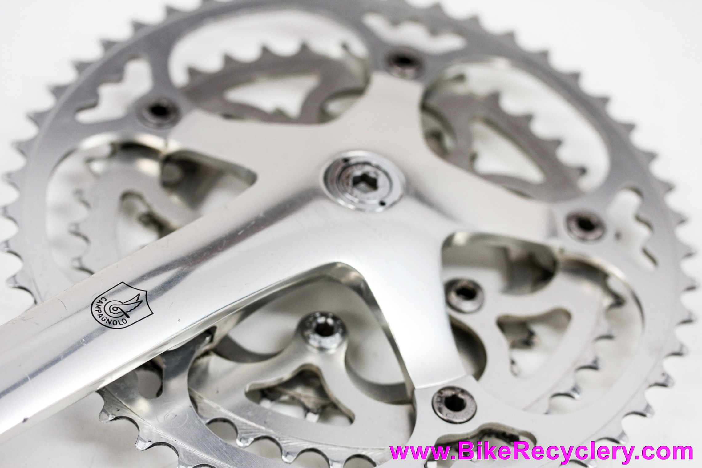 Campagnolo C-Record TRIPLE Crankset: 170mm - Willow Triplizer Chainrings 49/39/29t - 2nd Gen - Self-Extracting Dust Caps (Near Mint)