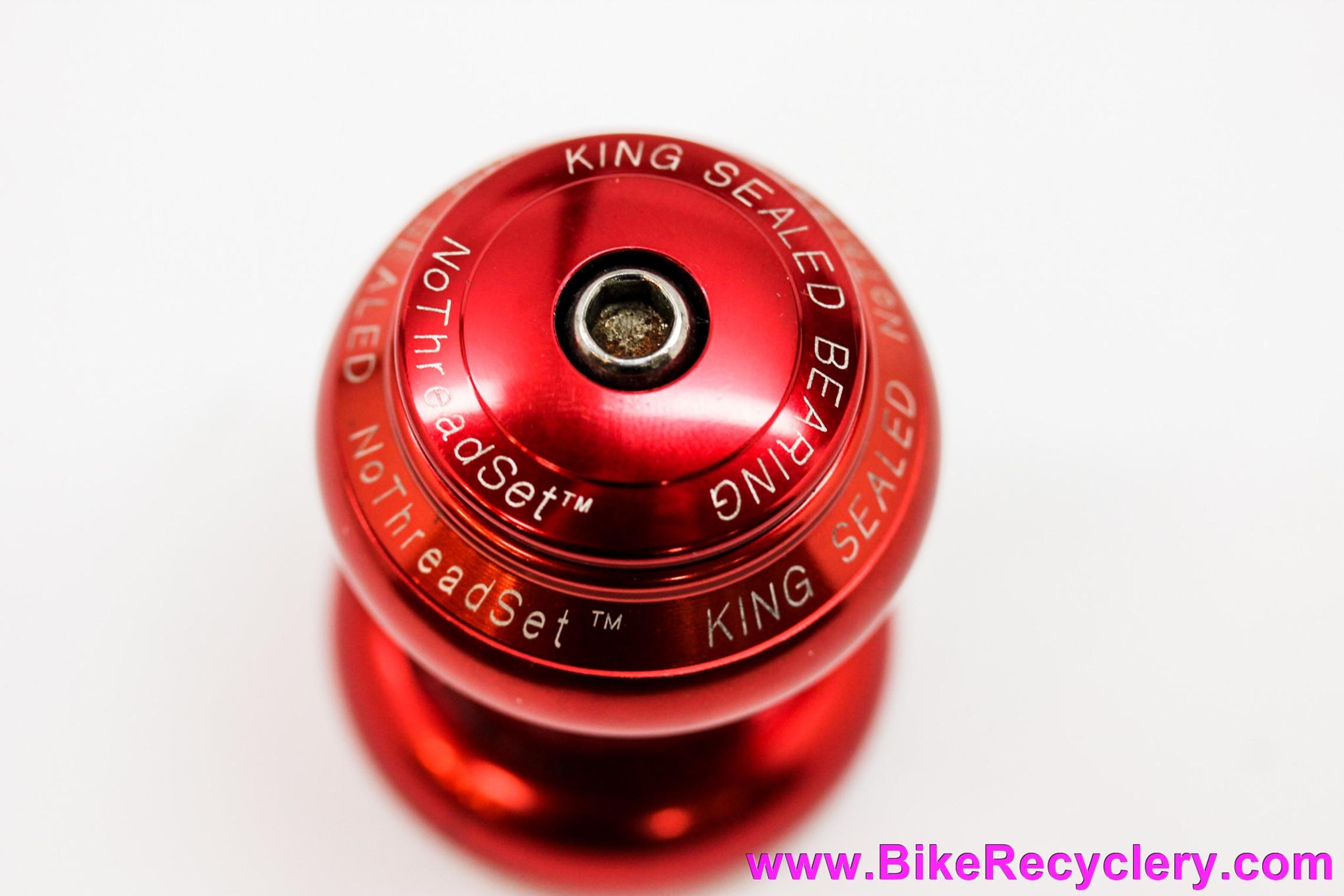 "Chris King No Logo 1"" NoThreadSet Threadless Headset: Red - Vintage 1990's (Near Mint++)"