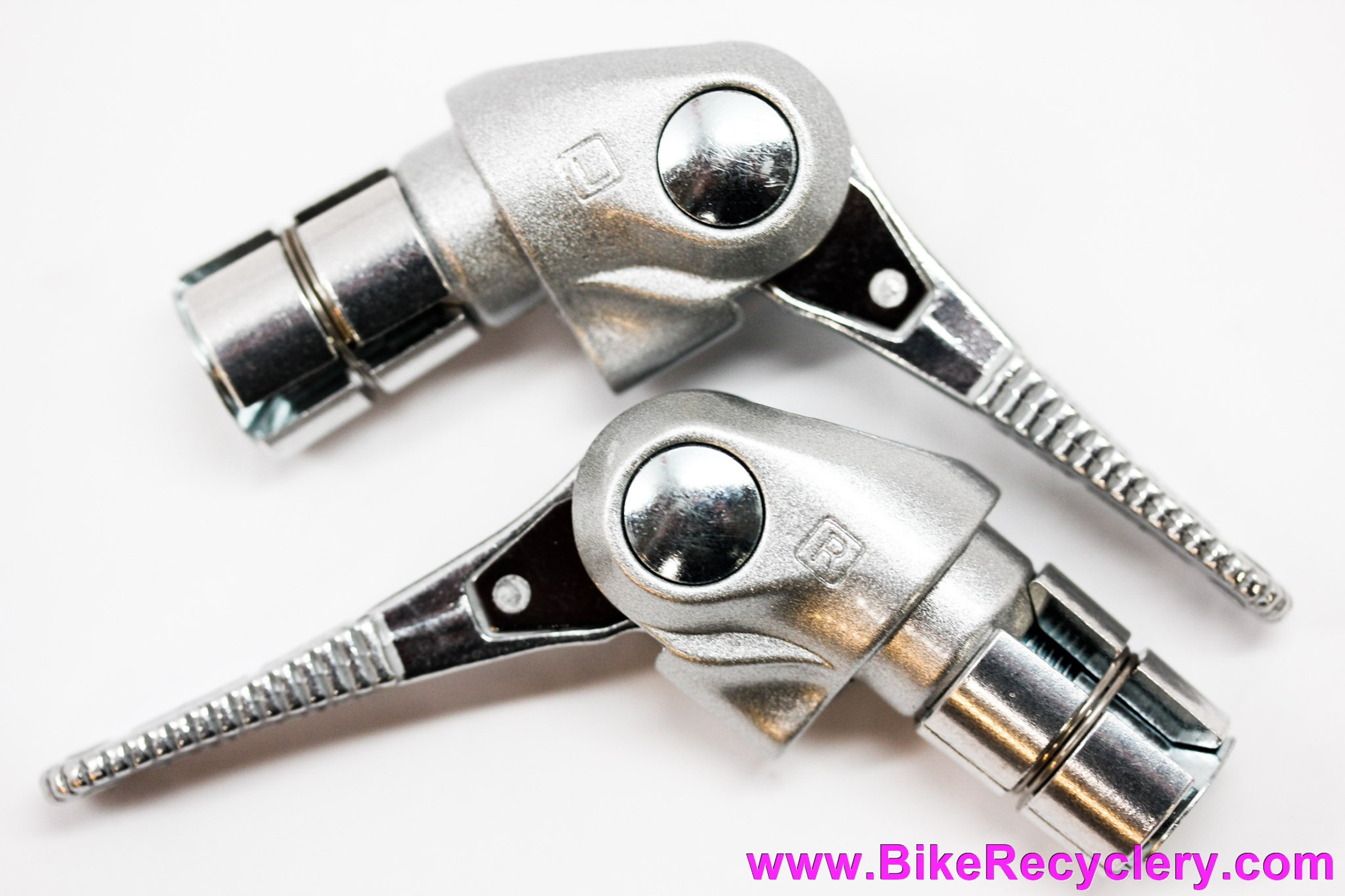 GRAN-COMPE ENE Bar End Shifters: Retrofriction 5/6/7/8/9/10 Speed - Silver - Retro Stylings (NEW)