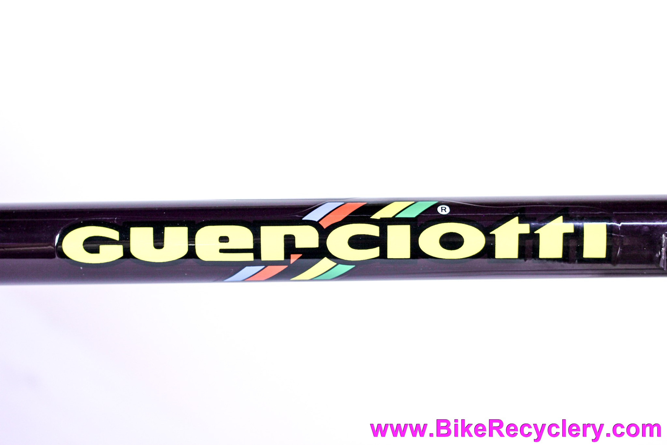 Guerciotti GLX Columbus SL Lugged Steel Frame & Fork: 54cm - Pantographed - DEEP Purple / Black / Pewter Chameleon - 1980's