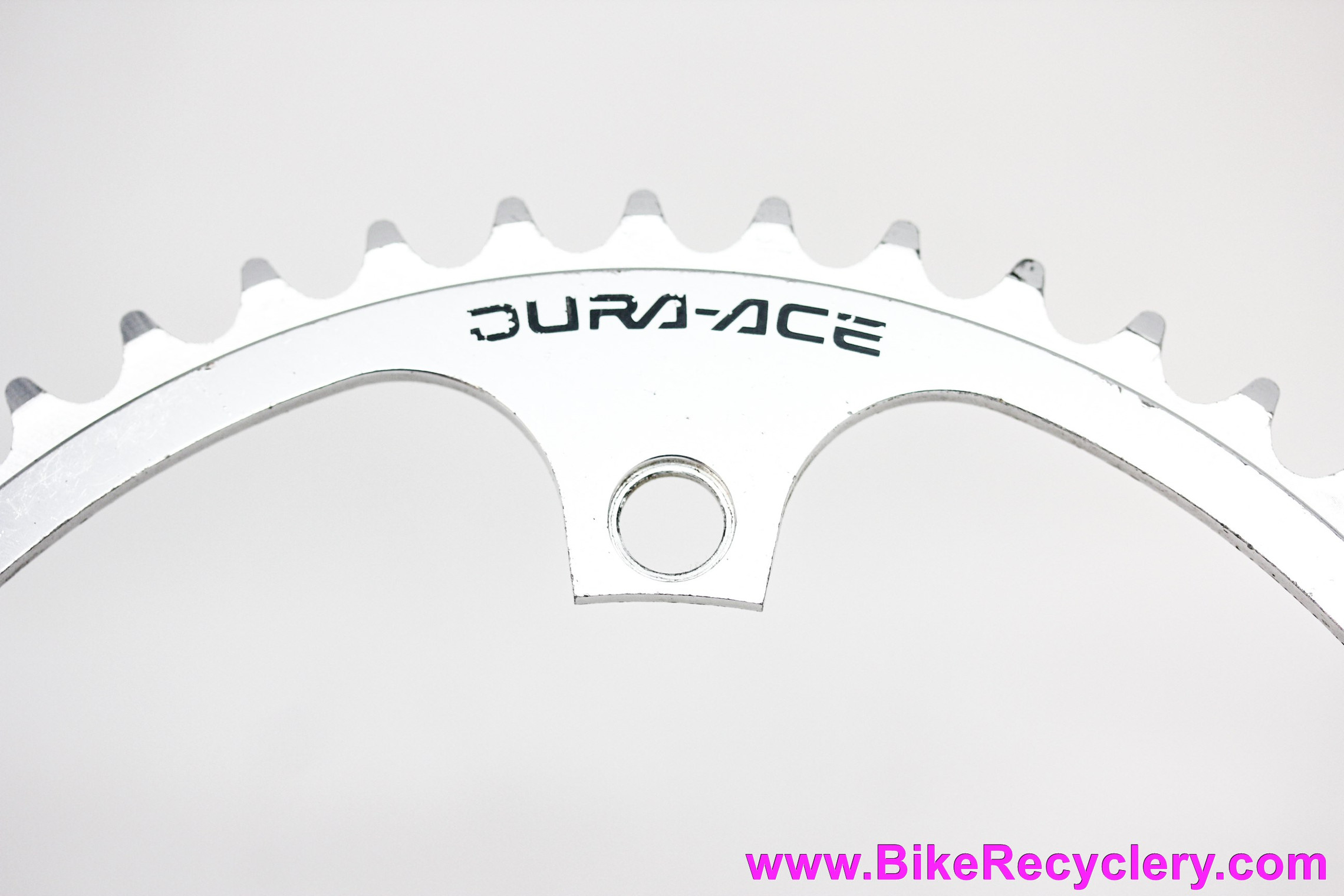 "Shimano Dura Ace NJS Track Chainring: 5t x 144mm - 1/8"" - 7600 / 7710 - Silver (EXC+)"