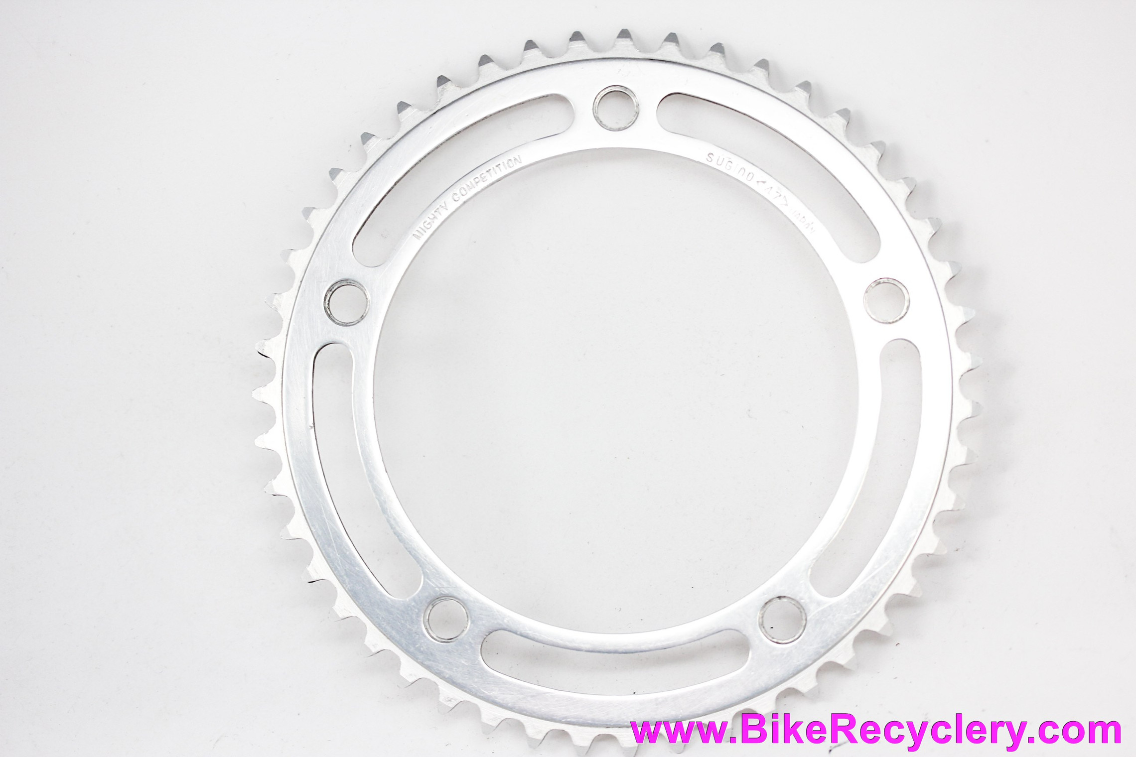 "Sugino Mighty Competition Track/Pista Chainring: 47t x 144mm - 1/8""  (Near Mint Low Miles))"