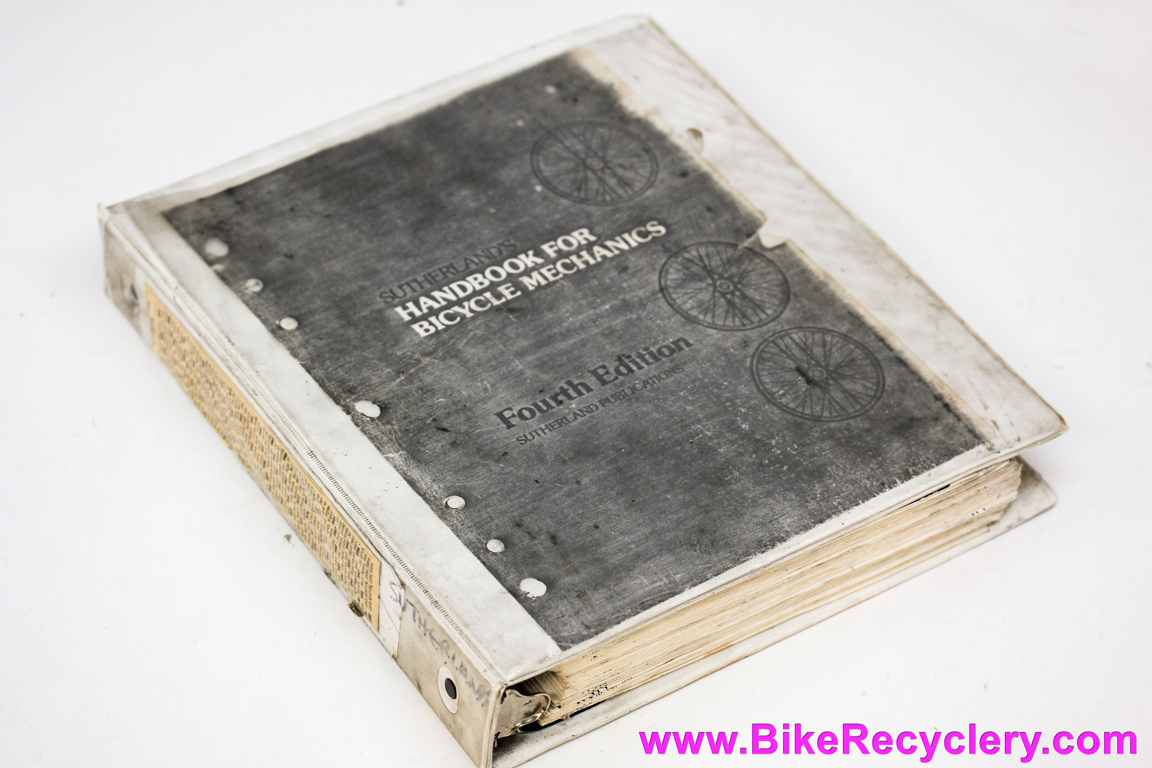 Sutherland's Handbook For Bicycle Mechanics: 4th Edition Vintage 1985 Red (photocopied)