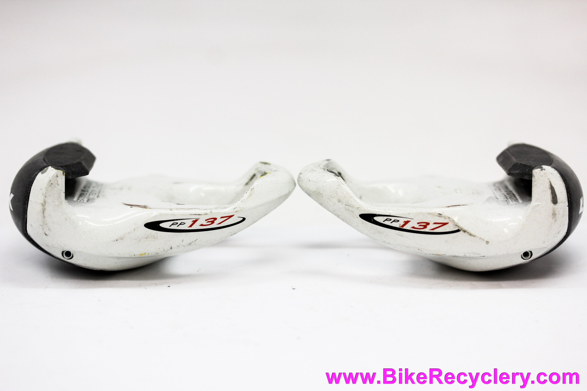 Look Carbon PP137 Delta ARC Clipless Pedals: White/Black - Vintage 1990's (EXC)