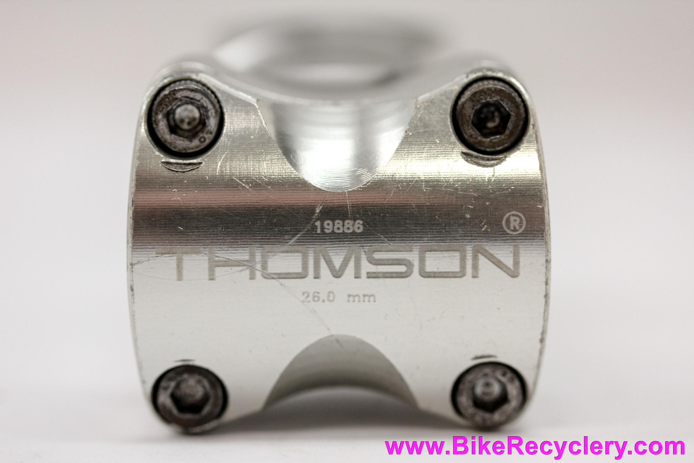 "Thomson Elite X4 Threadless Stem: 1 1/8"" -  90mm x 26.0mm x -10D - 1st gen w/ Cam Bolt - Silver"