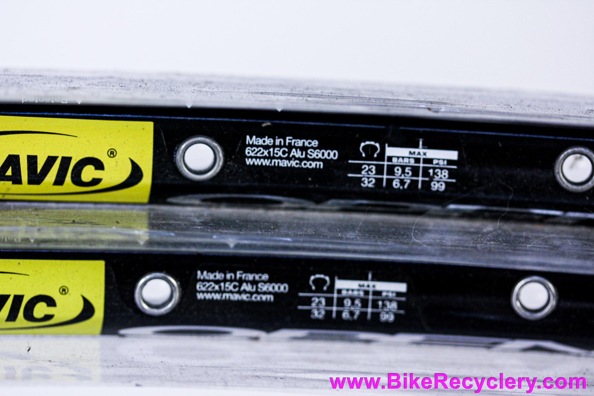 Mavic Open Pro Clincher Rims: PAIR - 32H Clincher - Black (NEW)