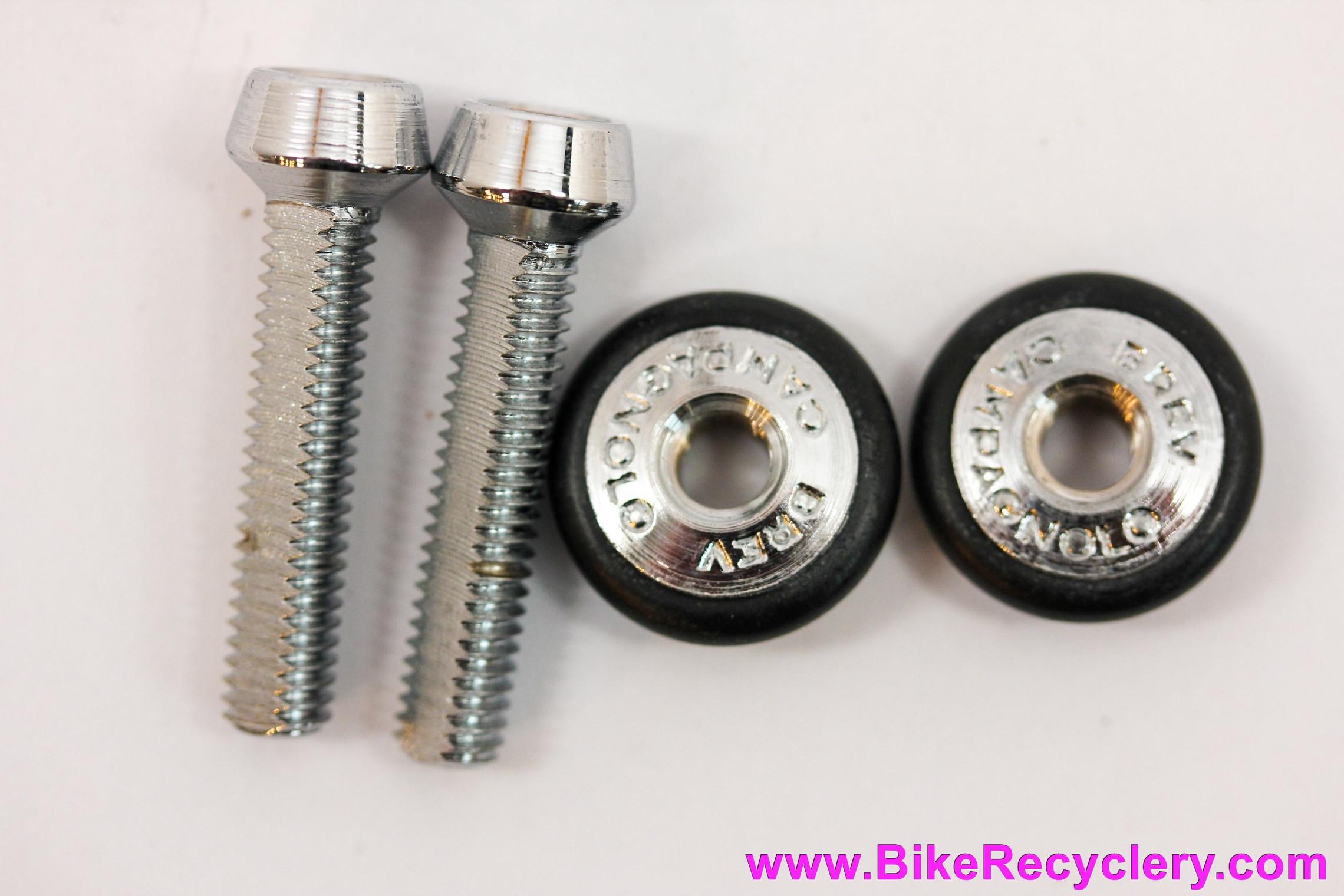 NOS Campagnolo Nuovo/Super Record Barrel Adjusters: PAIR - Black O-Rings - Fits Gran Sport / Triomphe / Victory / Monoplanar...