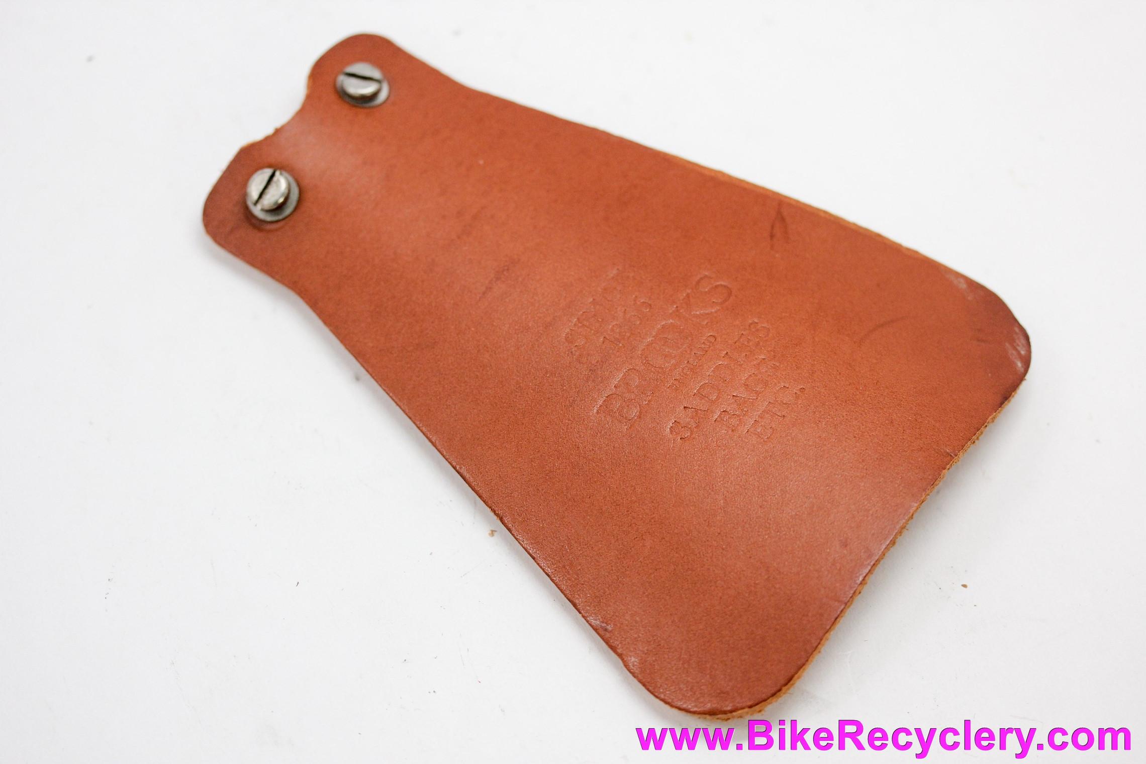 Mud flap fender clamp leather honey brown BROOKS bike