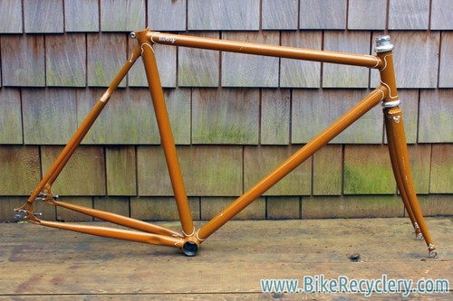 Livery Prototype Track Frame/Fork: Yoke Chainstay, Fancy Lugs & Dropouts, Columbus Steel, 53cm (c-t)