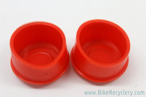 NOS Benotto Rubber Handlebar End Caps: Red (Pair)
