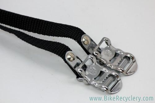 Nylon & Chrome Toe Straps (NEW)