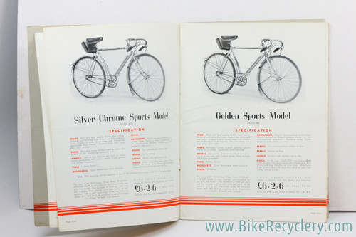 1939 Carlton Cycles Catalog: Last Catalog before the War-time Buyout! (29p)