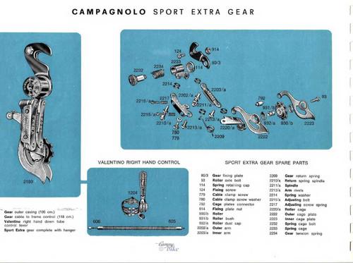 Campagnolo (Nuovo) Sport Extra Rear Derailleur: ONE Pulley! 1960's - #2180