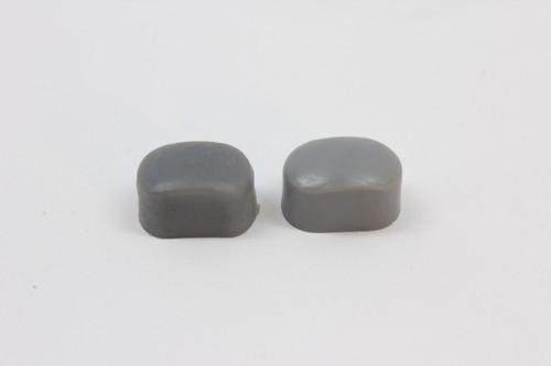 NOS DIA-COMPE Bakelite Caliper Brake Bolt Caps (Pair): Dark Grey - BMX Nippon/MX - Threaded