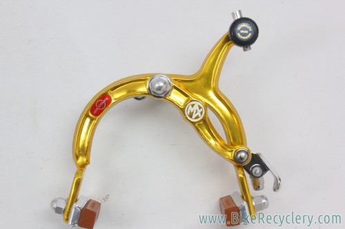 NIB/NOS 1982 DIA-COMPE MX1000 Rear Brake / Tech 3 Lever / Cable & Housing: GOLD Anodized - Matching Date Codes (PRISTINE)