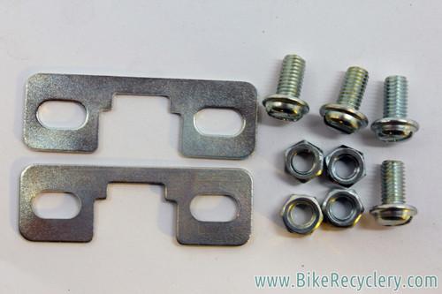Christophe Toe Clip Mounting Hardware: Plates & Bolts (NIB/NOS Pair)
