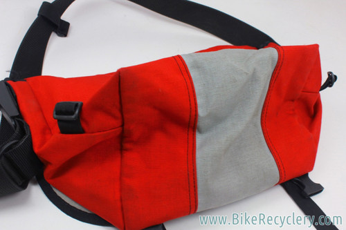 Timbuk2 Designs Vintage Messenger Bag: 1990's - Small/Med - Red & Grey (EXC+)