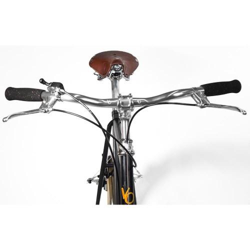 Velo Orange Milan Upright City Bar: 25.4mm - 22.2mm Levers - Silver (NEW)