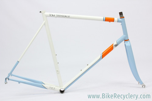 Tom Teesdale TET Cycles Road Frame: 58cm -Reynolds 853 Steel - Blue/Orange/White - (EXC+)