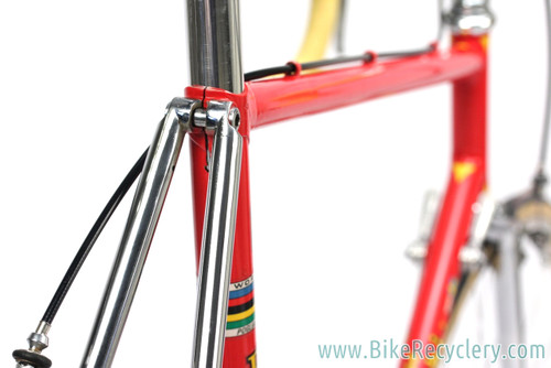 1978 Pogliaghi Italcorse Road Bike: ORIGINAL PAINT - 56cm - Campagnolo Nuovo Record - Fully Chromed Stays/Fork  (Original Show Bike Condition)