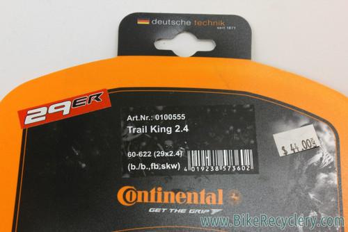 """Continental Trail King 29er MTB Tire: 29x2.4"""" - Folding (NEW)"""