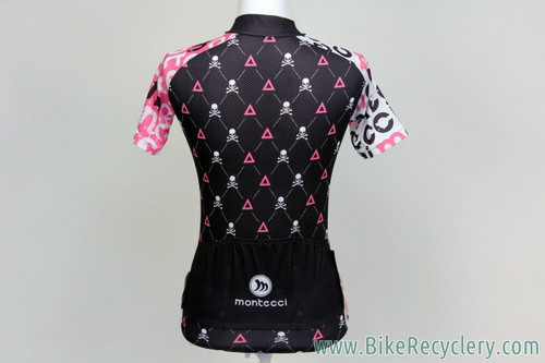 Pink & Black Skulls Women's Cycling Jersey: Small - Cute and wild! (NEW)