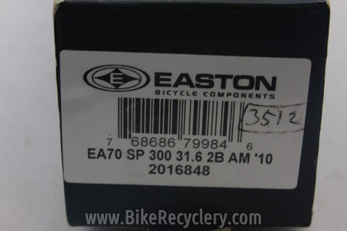 Easton EA70 Seatpost ZERO Offset 31.6mm x 300mm (NEW)