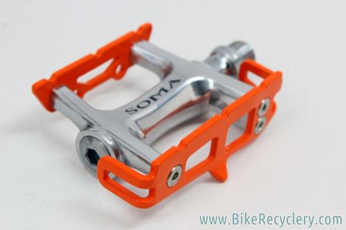 Soma Hellyer Track Pedals: Neon Orange - 249g (NEW)