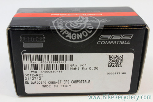 Campagnolo Record 10/11sp Ultra-Torque Outboard Bearing Cups: EPS Compatible - OC12-REI - IT (Italian) NEW