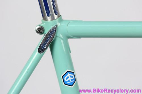 1981 Bianchi Super Pista Track Bike: 54cm - Celeste - Columbus SP -  Pantograph Campagnolo Record - Ofmega Mistral - Fiamme - Original Paint (EXC)