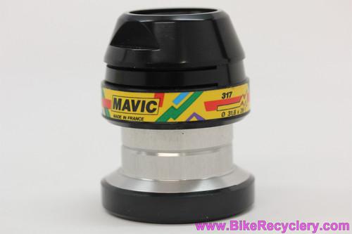 "NIB/NOS Mavic 317 Paris Gao Dakar Headset: 1 1/4"" Threaded - Black - Vintage 1990's"