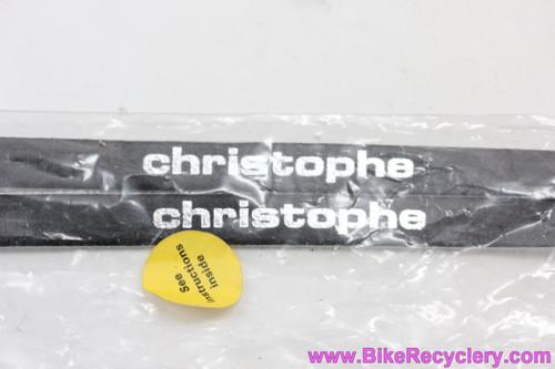 NIB/NOS Zefal / Christophe Leather Toe Straps: Black (pair)