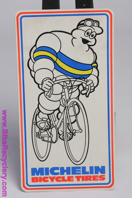 "1970's Michelin Man Bibendum Bicycle Tires Sticker: Large - 12"" x 9"" (NOS)"