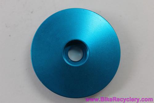 "NOS Ringle Zooka Threadless Stem Top Cap & Bolt: 1 1/8"" - Cobalt Blue Anodized"
