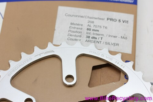 Specialties TA Cyclotouriste Pro Vis 5 Inner/Middle Chainring: 38t x 80mm 6 Bolt - REF 2082 (NEW)