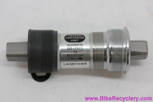 NOS Shimano XT/Ultegra BB-UN73 Square Taper Bottom Bracket: 110mm x 73mm English