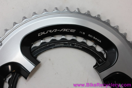 Shimano Dura Ace 9000 Compact Double Chainring Set: 50T & 34T x 110mm (Almost NEW <30 Miles))