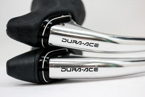 NOS Shimano Dura Ace BL-7400 Brake Levers: Original Black Hoods - Non Aero