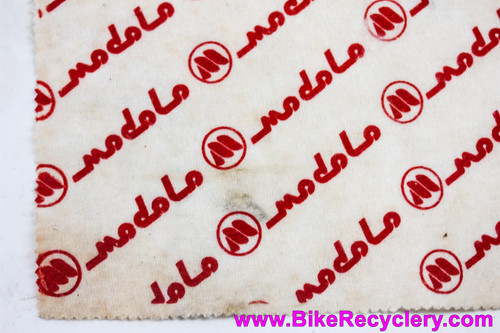 "Modolo Logo Shop Rag: Vintage 1980's Mechanic L'Eroica Merchandise! White/Red - 17"" x 14"""