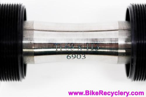 White Industries ENO/VBC Titanium Bottom Bracket: 113mm x 68mm English (NEW)