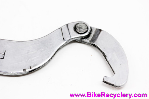 Park Tool HCW-2 Bottom Bracket / Headset Wrench: 35mm Fixed Cup + Adjustable Locknut  Hook Spanner (Discontinued & Rare)