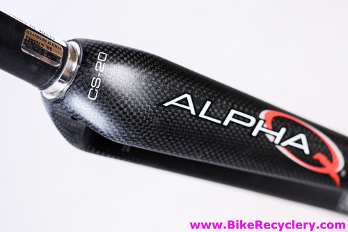 "True Temper Alpha Q CS-20 CRT Carbon Road Fork: 700c - 1 1/8"" - 41mm Rake - 420g - Matte Black - Straight Blade (NEW)"
