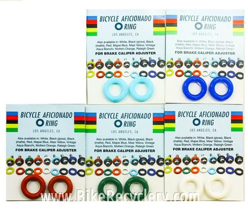 Barrel Adjuster O-Rings: Campagnolo / Suntour / Dura Ace - White/Red/Blue/Green