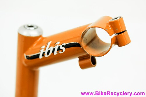 "Ibis Cycles Steel Quill Riser Stem w/ Cable Guide: 1 1/8"" - 85mm x 26.0mm - Vintage 1980's/1990's - Orange (EXC)"