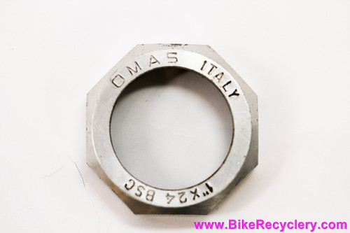 "OMAS Big Sliding Alloy Headset Top Locknut: 1"" Threaded (BSA) - 8g - Campagnolo Nuovo/Super Record Upgrade!"