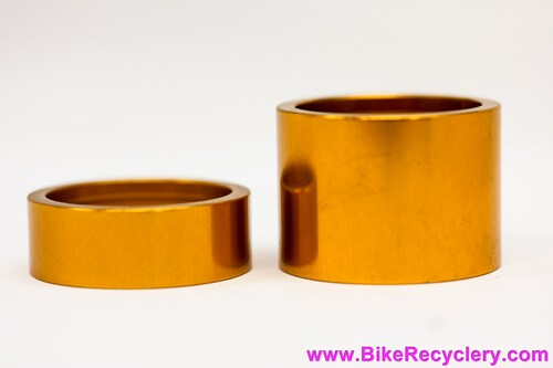 Chris King Spacer Kit: Gold - 2pc 12mm & 25mm (NEW)