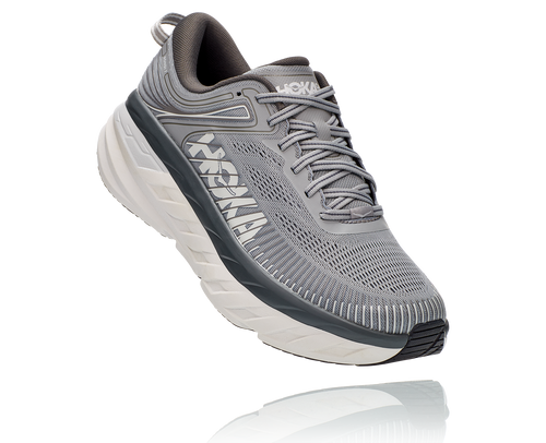 HOKA MEN'S BONDI 7 WIDE - GREY