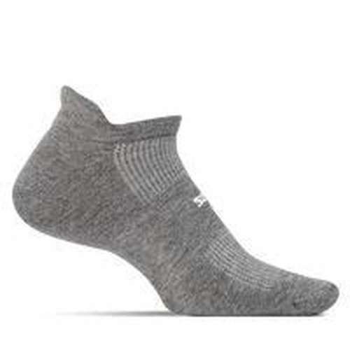 FEATURES HIGH PERFORMANCE NO SHOW TAB SOCKS GREY
