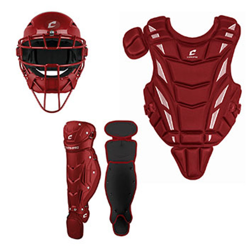 CHAMPRO MINOR'S CATCHERS SET - RED - AGES 6-9
