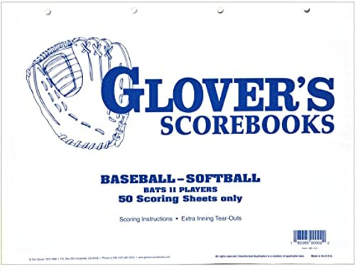 GLOVER SCORE SHEETS - 50 SHEETS